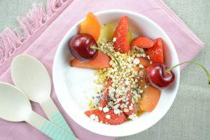 Vanillequark mit Obst