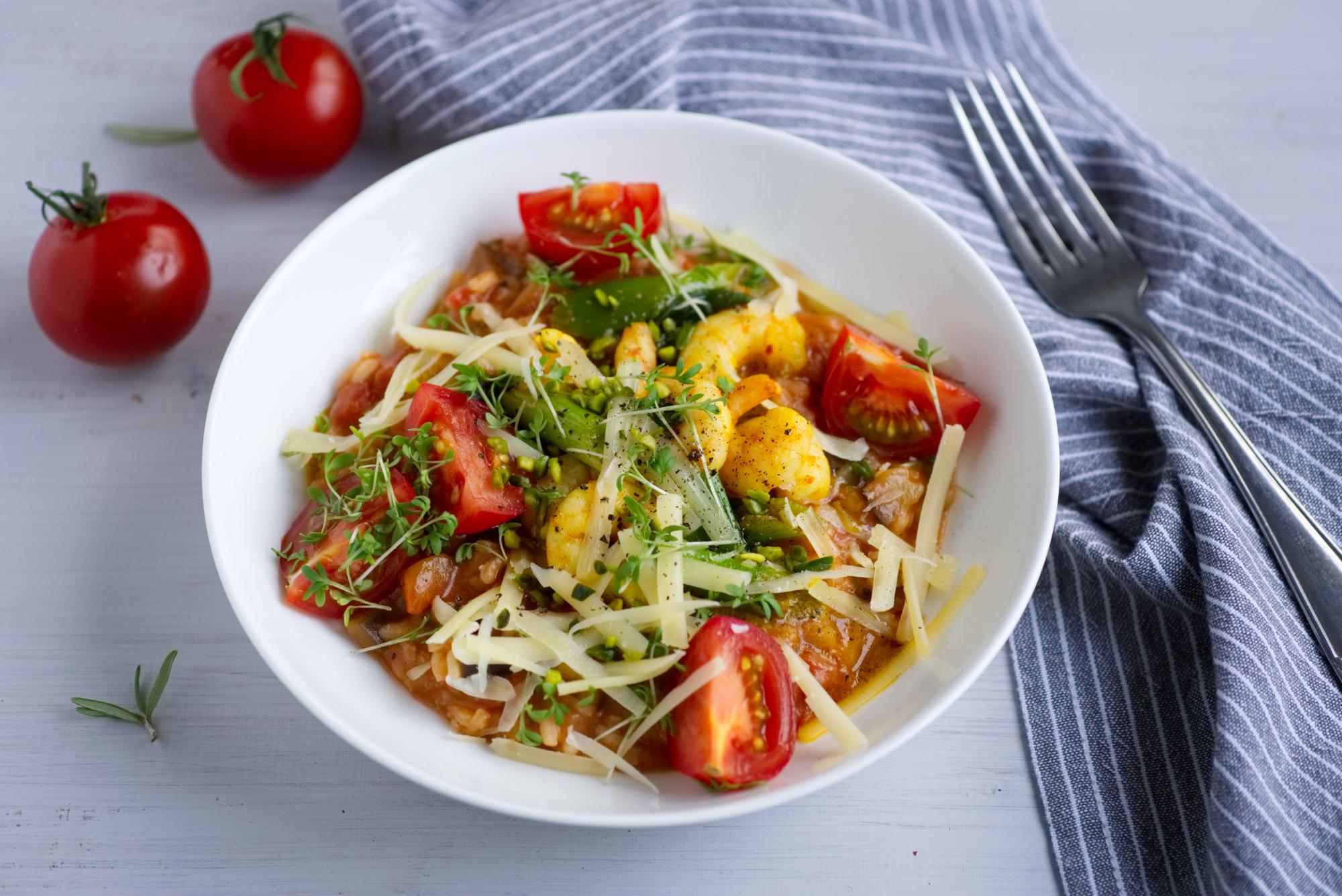 Reis, Risotto, Tomaten