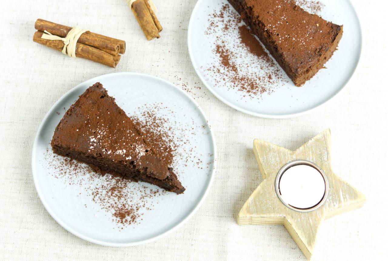 Rote-Bete-Kakao-Kuchen mit Zimt