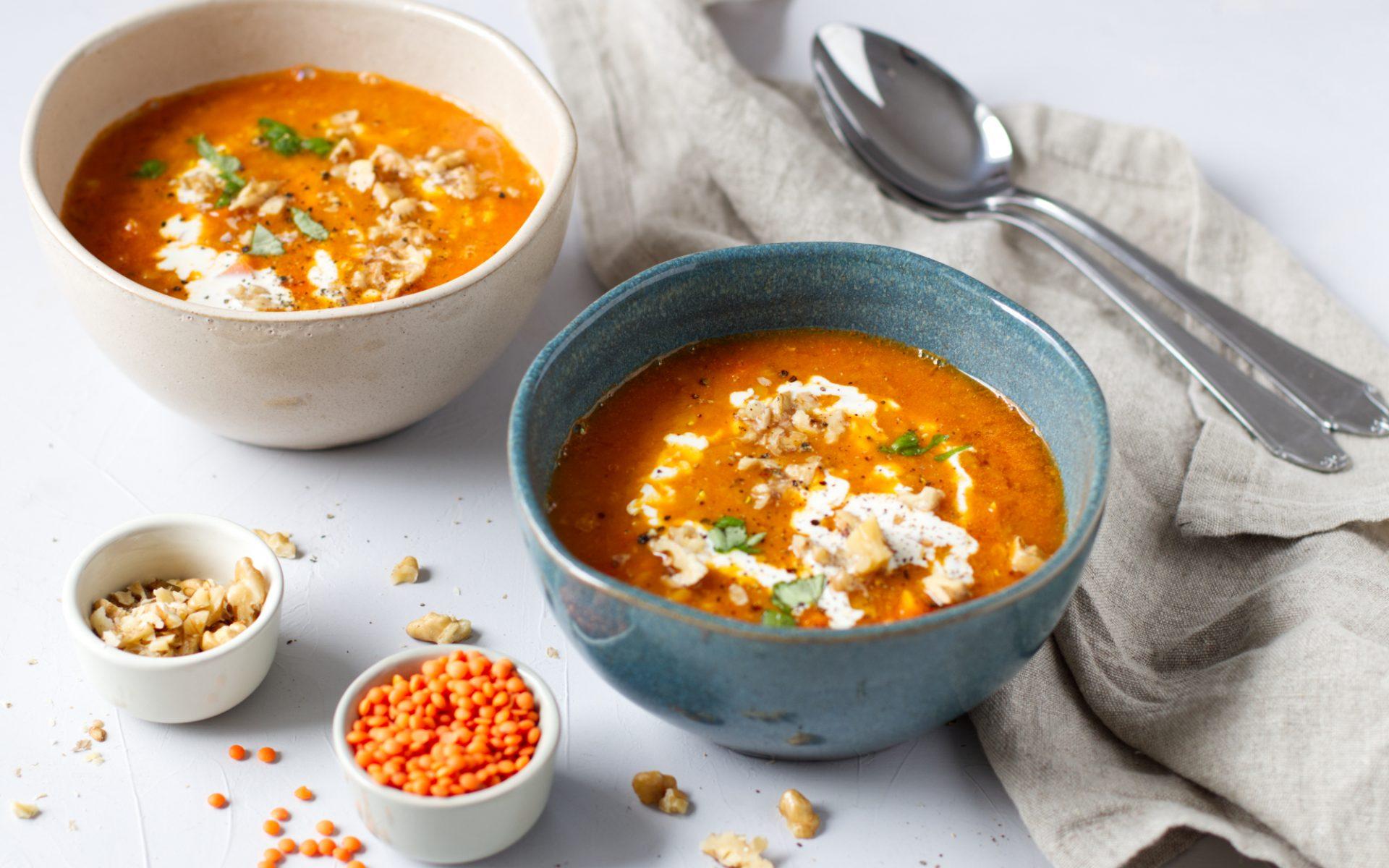 vegane Linsen-Gemüse-Suppe