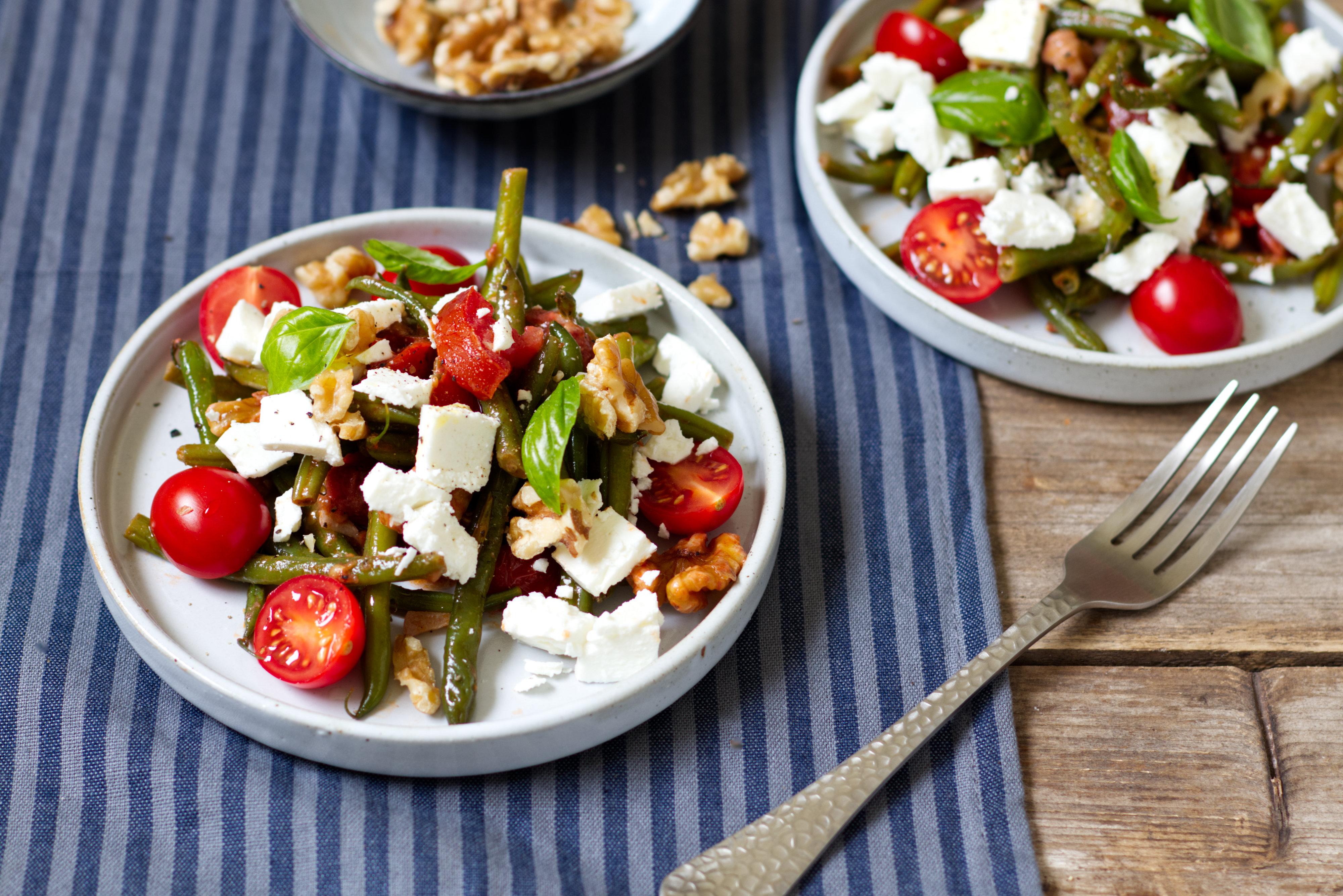 Bohnen-Tomtaten-Salat
